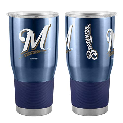 Boelter MLB Milwaukee Brewers 30 oz. Ultra Tumbler MLB Milwaukee Brewers, Black, Small ()