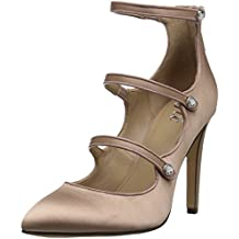 The Fix Women's Maya Pointed-Toe Military-Inspired Strap Pump With Jewel Buttons