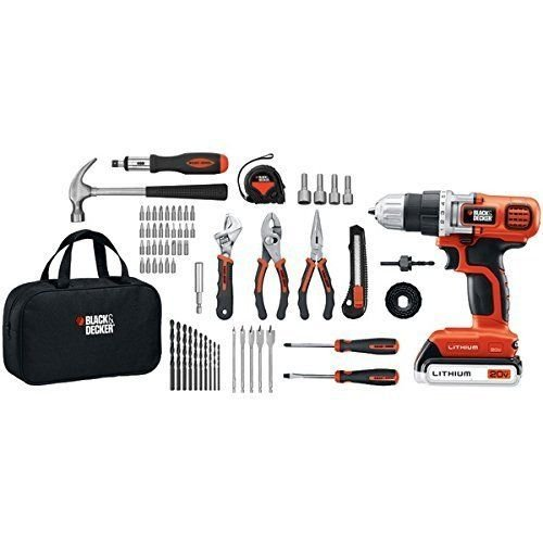 Black & Decker LDX120PK 20-Volt MAX Lithium-Ion Drill and Project Kit .#GH45843 3468-T34562FD282183