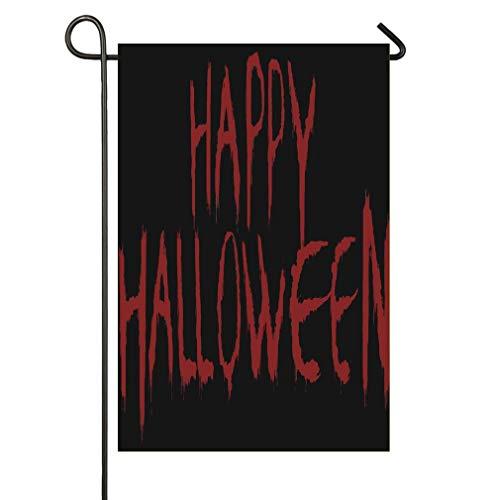 AnleyGardeflagsU Silinana Bloody Happy Halloween Sweet Home Home Garden Flag Spring Summer Yard Outdoor Decorative ()