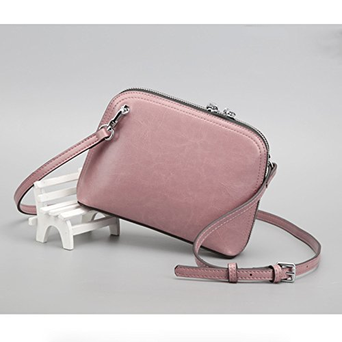 Bolso Todos Messenger Bolso Mini Pink Solo Bolso Match Elegante Cera GUANGMING77 Bolso Shell Negro Solo azfxq5wg