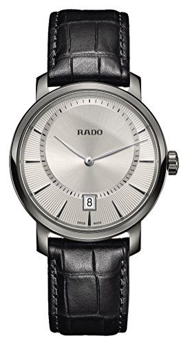Rado DiaMaster Quartz Silver Dial Ceramic Men's Watch R14135106