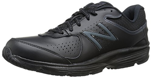 New Balance Women's WW411v2 Walking Shoe, Black, 9.5 D US