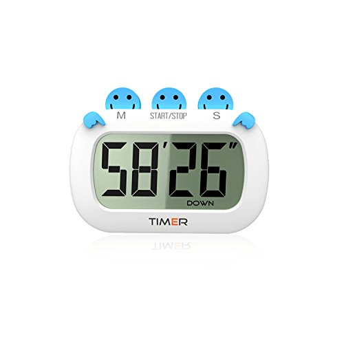 Digital Kitchen Timer Fashion Design Clock Cooking Timer with Big Digits,Large LCD Display, Loud Alarm, Magnetic Backing Stand