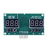 Signal Generator Multifunctional Wave Pulse Frequency 6Hz-100KHz Adjustable Rectangle Signal Generator for Step Motor Driver