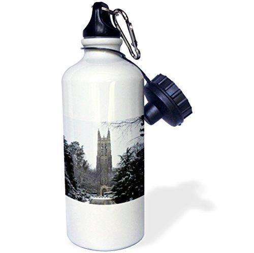 Moson水ボトルギフト、Duke大学チャペルDurhamホワイトステンレススチールウォーターボトルforレディースメンズ21oz B07CYKQ8VT