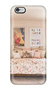 High-quality Durability Case For Iphone 6 Plus(pink Cottage Style Girls Bedroom With Daybed And White Dresser)(3D PC Soft Case)