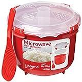 Sistema Microwave Cookware Rice Steamer, 87.2 Ounce/ 10.9 Cup, Random Colors