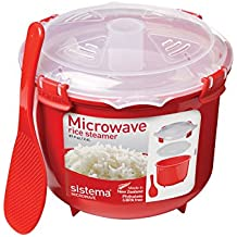 Sistema 1110  Microwave Cookware Rice Steamer, 87.2 Ounce/ 10.9 Cup, Red