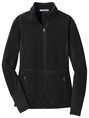 Port Authority Ladies R-Tek Pro Fleece Full-Zip Jacket, Black/ Black, Large