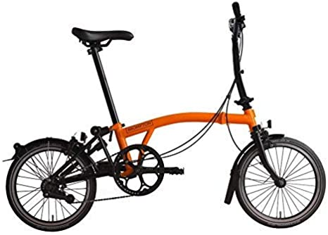 Brompton 2019 M6L - Bicicleta Plegable, Color Naranja: Amazon.es ...