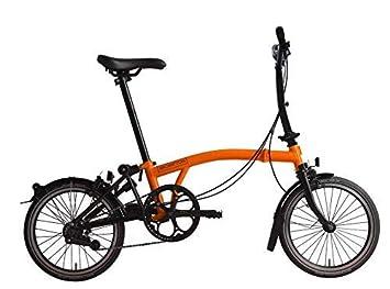 Brompton 2019 M6L - Bicicleta Plegable, Color Naranja