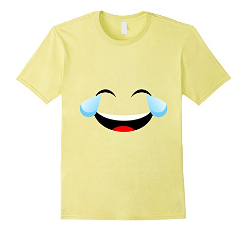 Unique Brother And Sister Halloween Costumes (Mens Laughing Emoji Face Costume T-Shirt for Halloween Group Team Large Lemon)