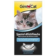 GimCat biberón especial con escala de medición – Ayuda para la cría de cachorros de gato y otros animales jóvenes – 1 biberón