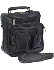 Claire Chase Jumbo Man Bag, Black, One Size