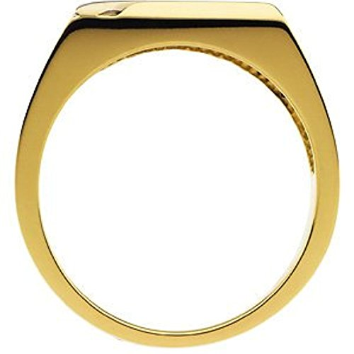 14K White Yellow Gold Two Tone Gents Mounting Ring, Size: - Tone Gold Mounting Two
