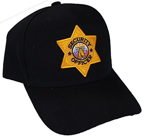UAW Security Emblem Cap (Black-Gold ID-Security)