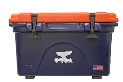 ORCA 26 quart Cooler, Navy/Orange by ORCA Coolers
