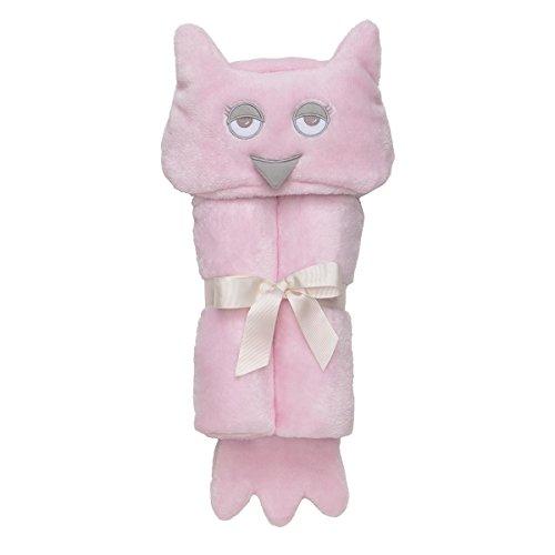 Elegant Baby Microfiber, Machine Washable, Ultra Plush, Soft Baby Gift, Baby Blanket Wrap Pink Owl