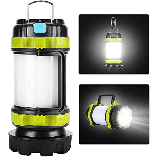 Camping Lantern Rechargeable, Lantern Flashlight LED with 800LM,6Light Modes,3800mAh Power Bank, IPX4 Waterproof,Perfect for Camping Light Hurricane,Emergency,Hiking,Outdoor,USB Cable Included (white) best to buy
