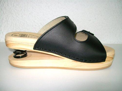 LUVER Sandale en bois anatomique avec ressort 2101/A couleur noir taille 42