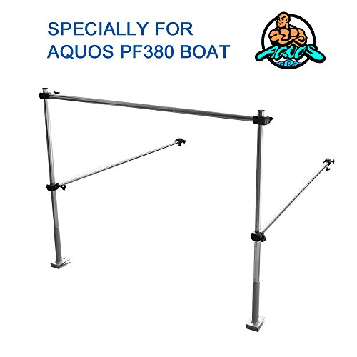 Aquos The Guard Bar 12.5′ Green 0.9 PVC Inflatable Pontoon Boat for Lure Fishing Bass Fishing
