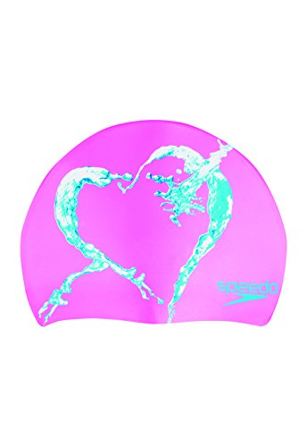 Speedo Holiday Assortment Silicone Swim Caps, Hot Pink, One Size