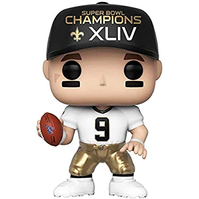 Pop Sports NFL Drew Brees New Orleans Saints SB Champions XLIV Vinyl Figure (Bundled with Pop Shield Protector): Toys & Games
