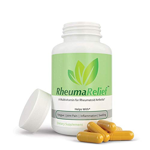 RheumaRelief - Natural Pain Relief Multivitamin for Arthritis with Turmeric, Vitamin B12, Ginger, Folic Acid, Vitamin D, Magnesium, Boswellia, Quercetin- Rheumatoid Arthritis and Osteoarthritis .03oz (Best Vitamins For Osteoarthritis)