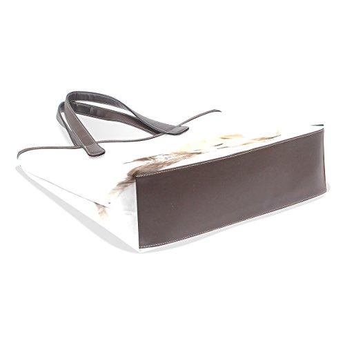 Coosun Damen Einzigartiges Design Baby Hund Und Katze Pu Leder Große Einkaufstasche Griff Umhängetasche Einkaufstaschen Casual Bags Handtasche für Mädchen