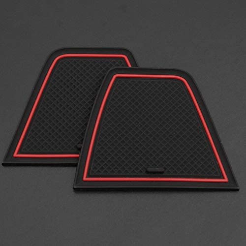 Semoic Anti-Slip Car Door Rubber Cup Cushion Red Gate Slot Pad for 86 BRZ GT86 FT86 FR-S 2012~2019 Mat Accessories