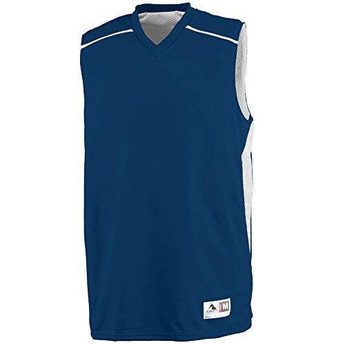 (Augusta Sportswear MEN'S SLAM DUNK JERSEY 3XL Navy/White)