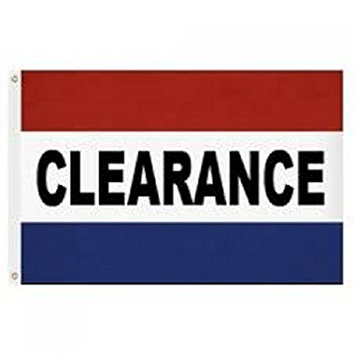 Clearance Red/White/Blue 3x5 Ft Poly Flag with Brass Grommet
