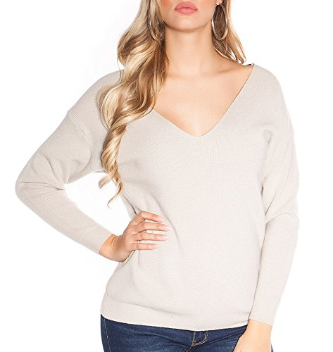 Glamour Angies Maglione Fashion Beige Donna 1SUfdwq