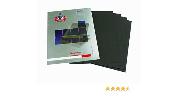6 sheets EXTRA FINE Sandpaper Wet Dry 3\u201dx 5 12 COMBO 300050007000 Grit