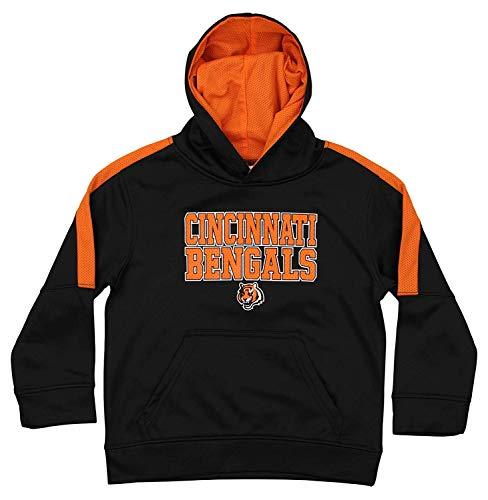Outerstuff NFL Youth Boys (4-18) Performance Fleece Hoodie, Cincinnati Bengals Small (6/7) ()