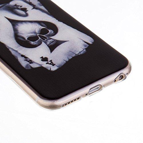 iPhone 6S Hülle, iPhone 6 Hülle, SainCat Silikon Hülle Tasche Handyhülle [Kratzfeste, Scratch-Resistant] TPU Bumper Case Weiches Schutzhülle Gel Cover Durchsichtig Malerei Muster Weichem Silikon Schut