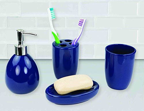 Deluxe Ceramic Bathroom Vanity Accessory Set, Soap Dispenser