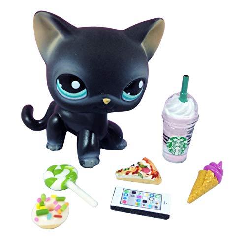 happyblockbuilder LPS Littlest Pet Shop 6 PC Lot Random Accessories Ice Cream Phone Starbucks Tablet Food; Pet NOT Included -
