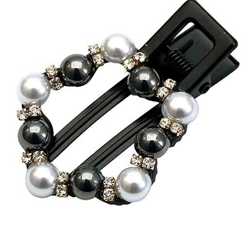 - Fashion Retro Hair Clip Artificial Pearl Alloy Duckbill Clip Hair RR6 01 (Type - Type 8)