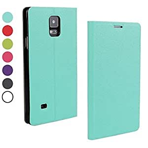 ZXC Ultrathin PU Leather Cover with Stand for Samsung Galaxy Note 4 (Assorted Color) , Blue