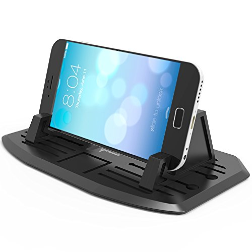 IPOW Super Handy Silicon Car Pad Mat 2nd Generation,Anti-slip Lightweight Car Dashboard Phone Mount Holder Desk Stand for iPhone X 8 8P 7 7P 6s 6 5S,Galaxy S8 S7 S6 S5, Google Nexus, LG, Huawei