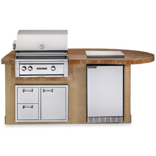 Lynx Grill Side Burners - Lynx L2500S Sedona Deluxe BBQ Island with 30-Inch Propane Gas Grill with Rotisserie, Sandalwood
