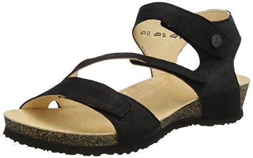 schwarz Leather Sandals Think 89370 Dumia Womens UqP11X0a
