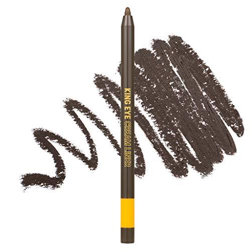 [COLORGRAM] King Eye Cream Liner 0.5g - Waterproof Auto Gel Pencil Eyeliner that Lasts Clearly (No4 Wooden Brown)