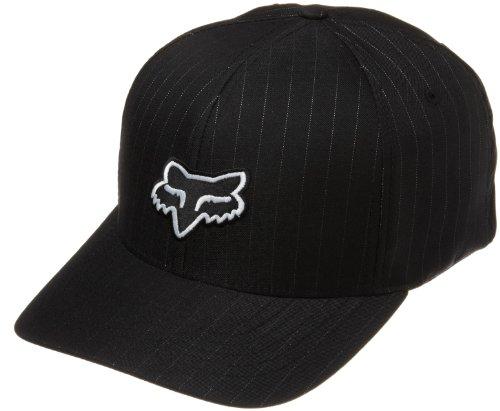 - Fox Head Men's Legacy Flexfit Hat, Black Pinstripe, Small/Medium
