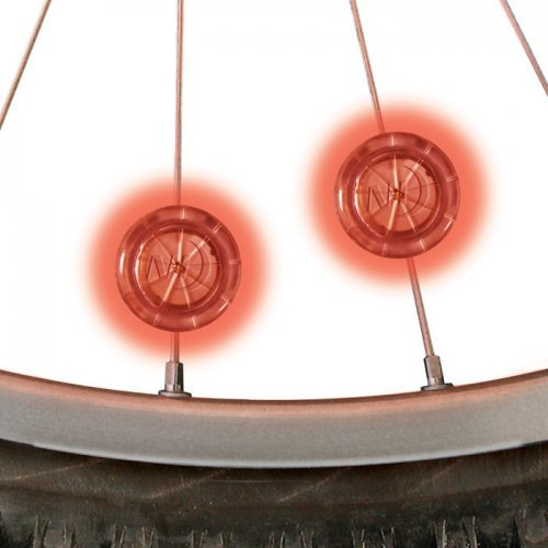 Nite Ize See Em Mini LED Bicycle Spoke Lights, Wheel Lights For Nighttime Visibility + Safety, 2 Pack, Red