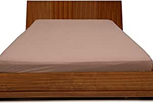 Brightlinen Peach Superking (180 X 200 Cm) Fitted Sheet Solid(pocket Size: 42 Cm) 1pcs