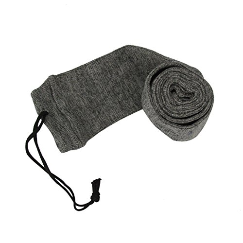 "FENSTORE Silicone Treated Gun Sock 52"" Rifle/Shotgun Shooting Oil Air Bag Slip Cover Grey"