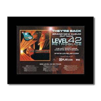LEVEL 42 - Retroglide Mini Poster - 21x13.5cm